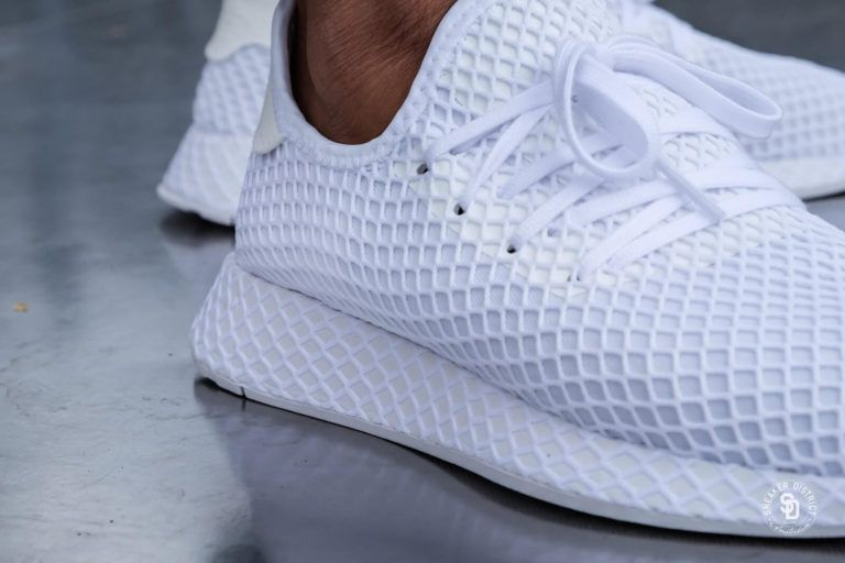 Cq2625 Deerupt Grille Toute Basket Adidas Mesh Homme Runner Blanche WCBordxe
