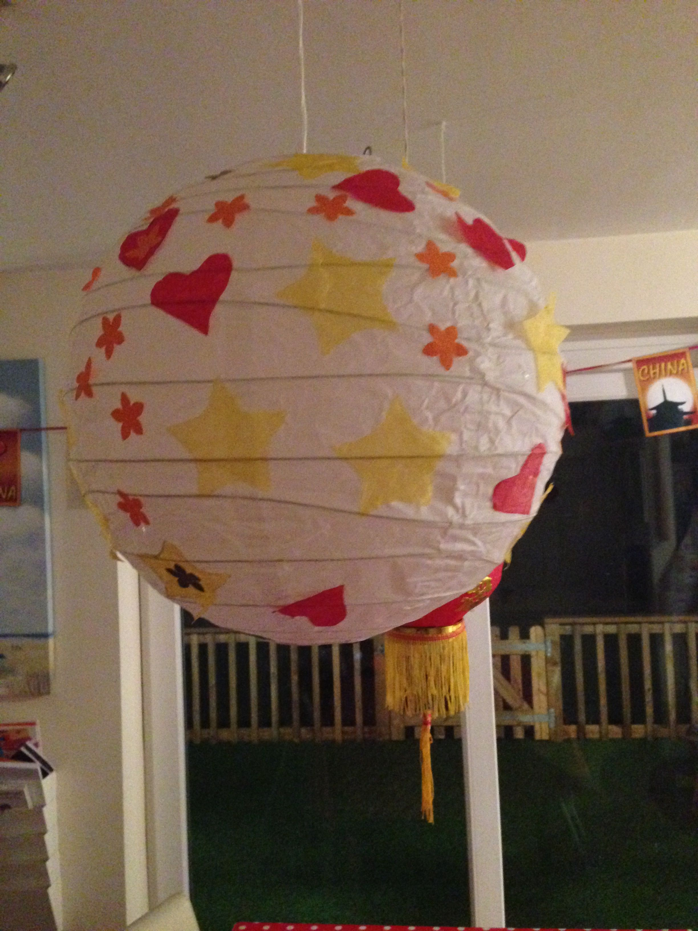 Chinese lanterns made from paper lamp shades