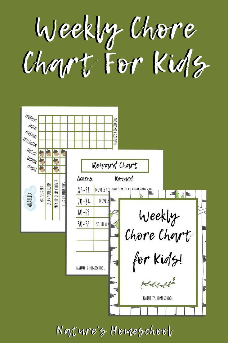 Weekly chore chart for kids of all ages etsy in 2020