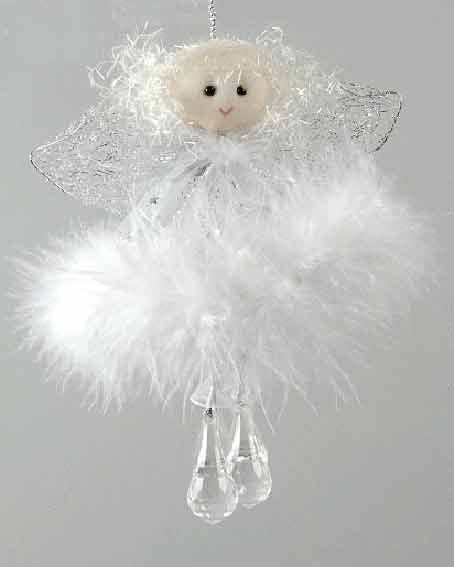 ange blanc perles christmas angelsdiy christmas decorationsnoel - Decoration De Noel Blanche