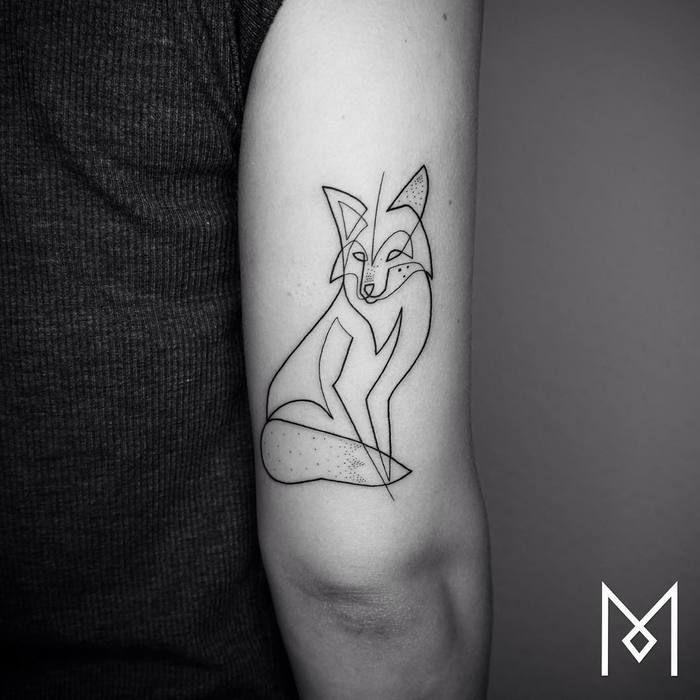 46 Adorable Fox Tattoo Designs And Ideas Tattoobloq Mo Ganji Line Tattoos Fox Tattoo Design