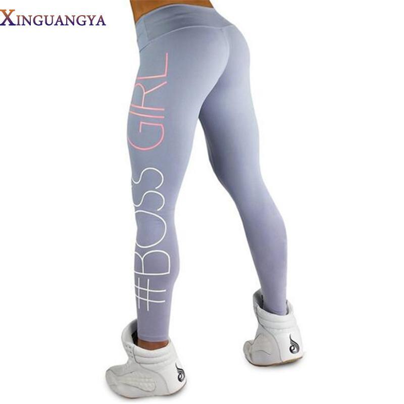 85c10ba42db41f Boss Girl Print Activewear Leggings   Fitness Leggings   Girls ...