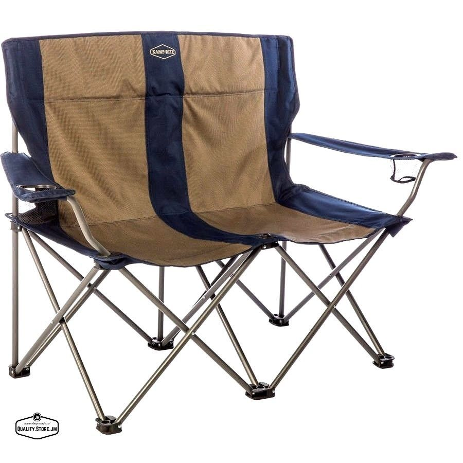 Double Camping Chairs Folding Knoll Chadwick Chair Parts Loveseat Camp Portable Beach Outdoor Seating Kamprire
