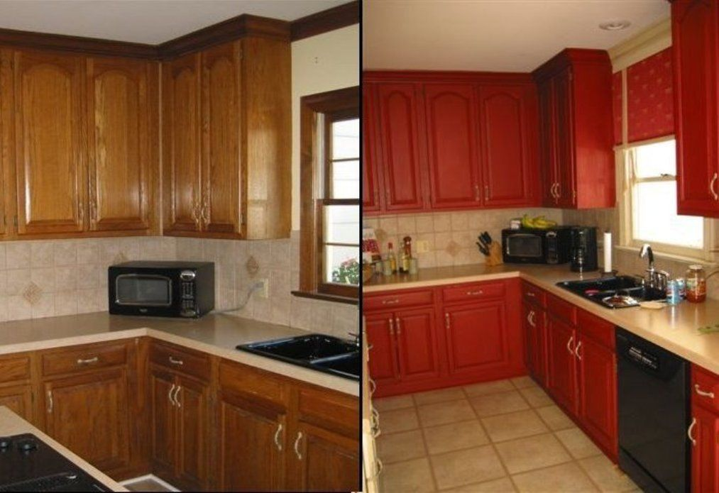 RED PAINTS FOR KITCHEN - Google Search | Kitchen cabinets ...
