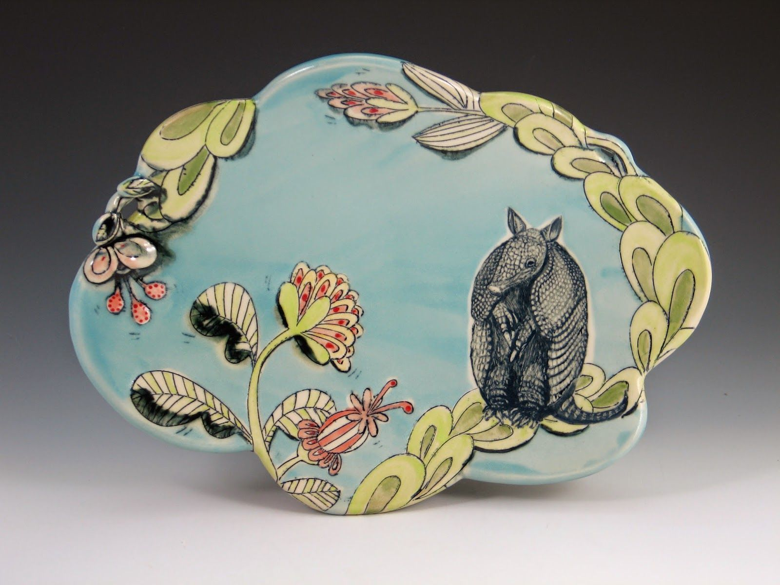 A celebration of plate design 5 days a week. & Armadillo Platter by Chandra DeBuse a potter in Kansas City MO ...