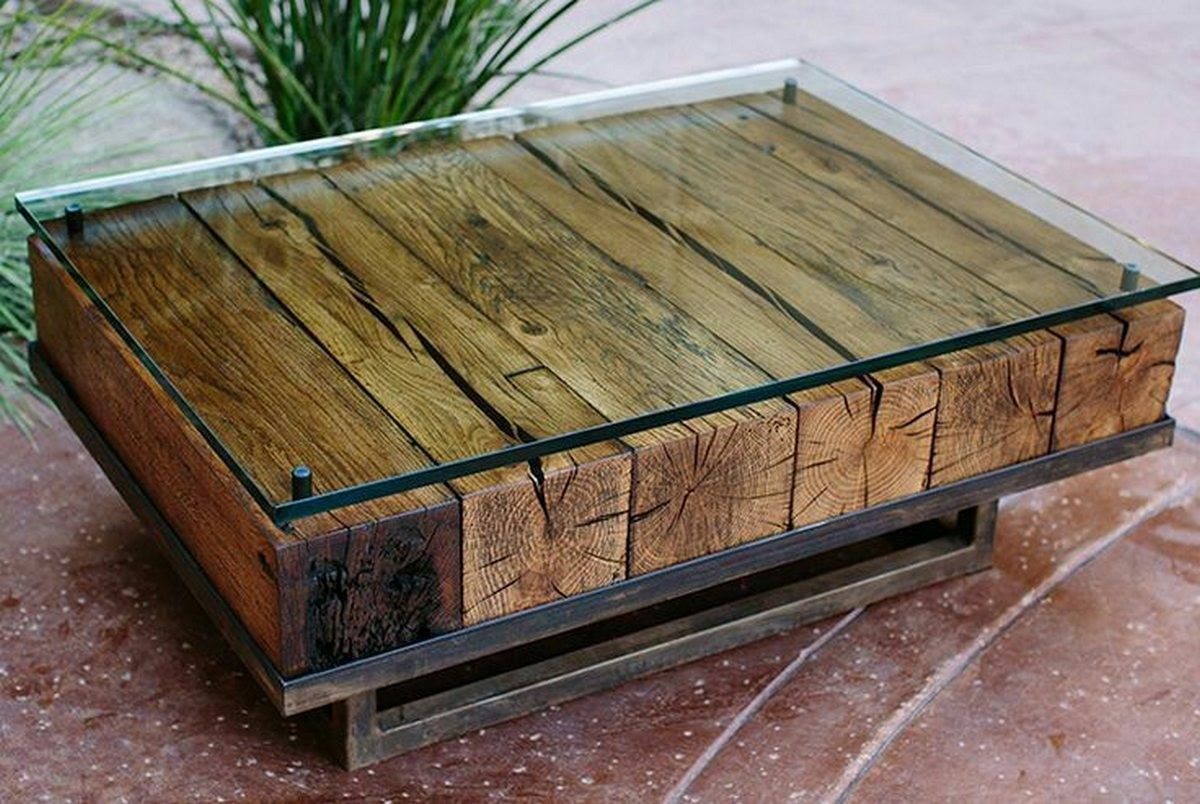 Couchtisch Hutch 6x6 Glass Table | Reclaimed Coffee Table, Coffee Table