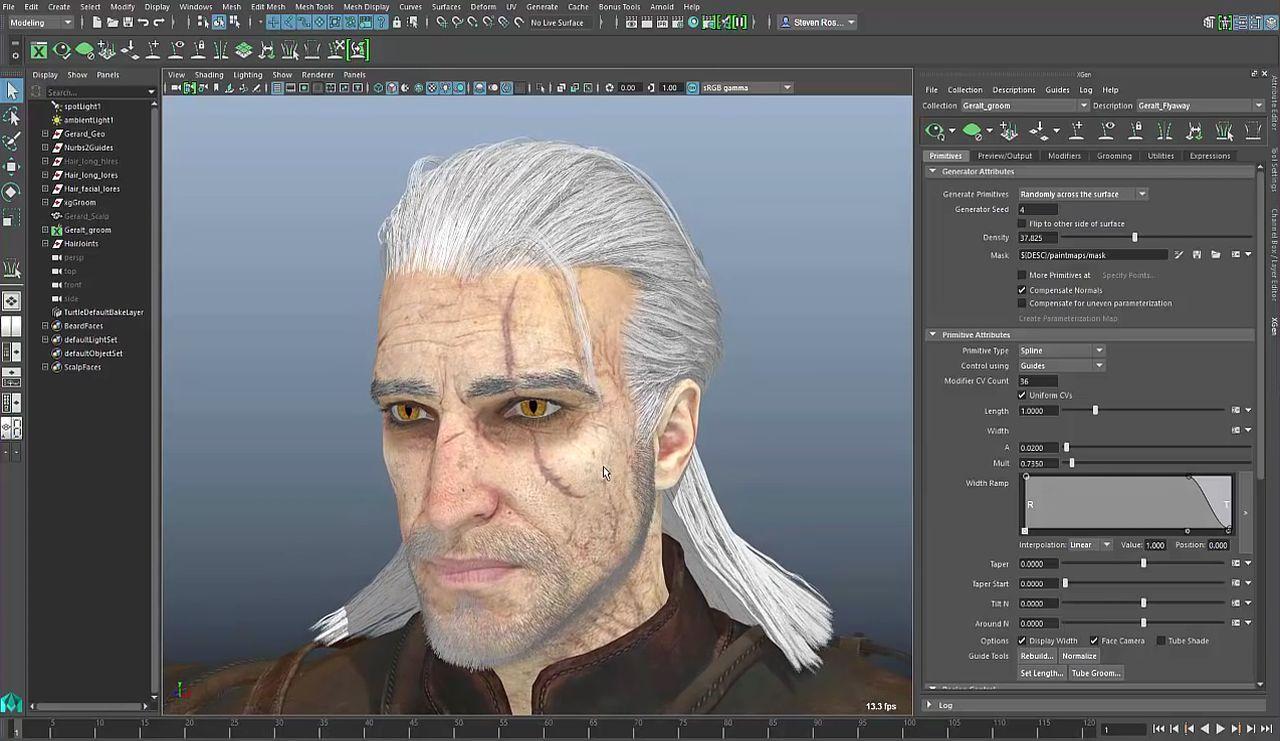 Maya 2017: Xgen For Game Character Hair
