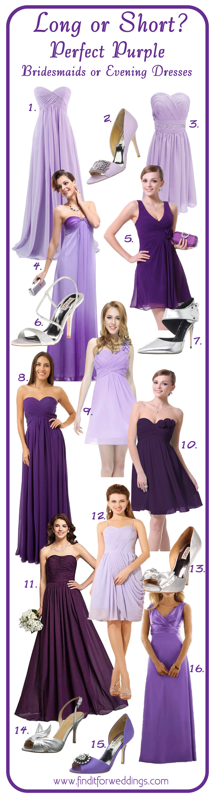 Purple Bridesmaid Dresses Wedding Shoes Find It For Weddings Purple Bridesmaid Dresses Purple Bridesmaids Wedding Bridesmaid Dresses
