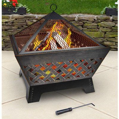 Landmann 25282 Barrone Fire Pit With Cover, 26-Inch ...