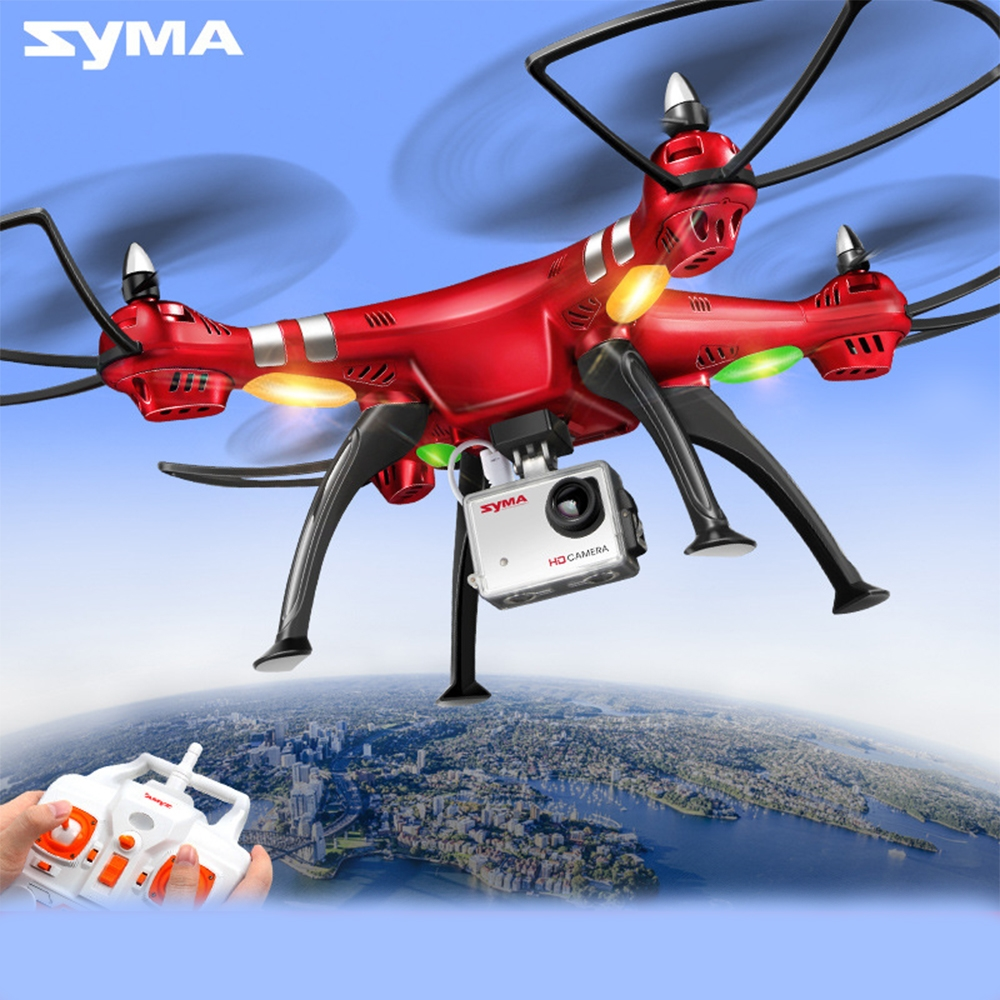 180.71$  Buy now - http://aliynx.worldwells.pw/go.php?t=32789650464 - Syma X8HG 2.4G 4CH 6 Axis RC Drones With 8MP Wide Angle HD Camera RC Dron Quadcopter RTF Altitude Hold Mod Helicopter CE ROHS 180.71$
