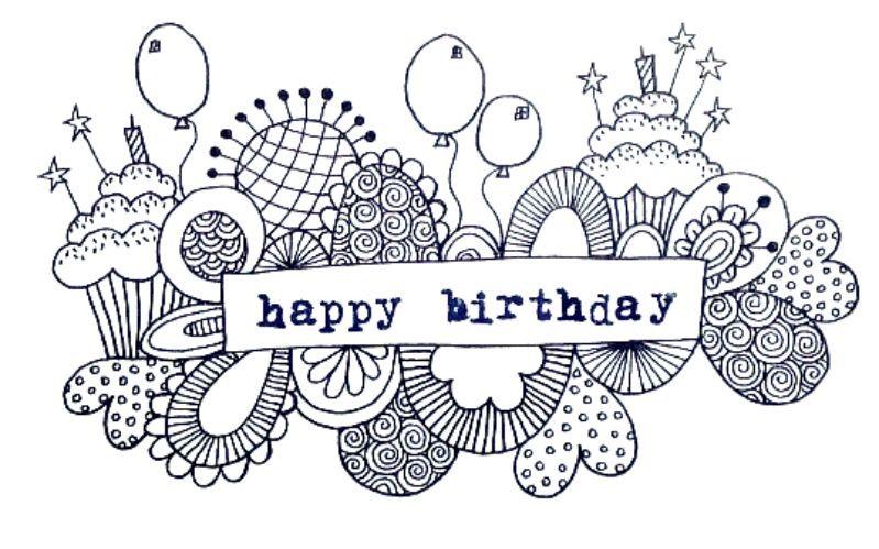 Happy Birthday Doodle Cards Pinterest Birthday Doodle