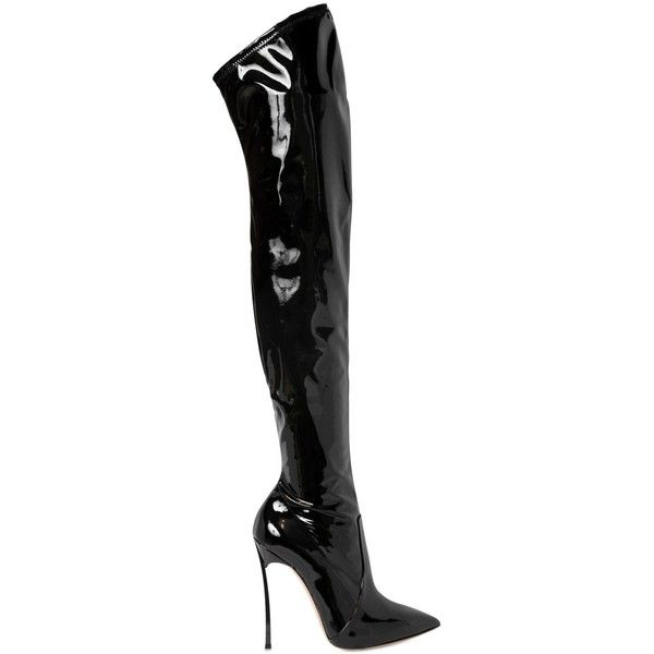 sale newest clearance popular Casadei Patent Leather Knee-High Boots 2014 new online Tpb7wH2