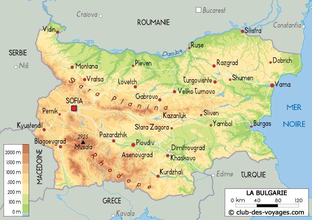 Carte De La Bulgarie La Bulgarie Bulgarie Carte