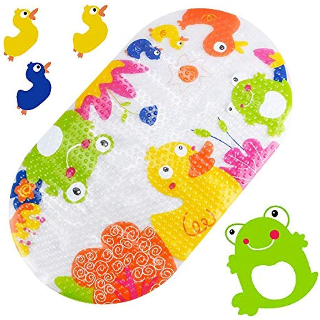 Jooheli Badewannenmatte Kinder Badewannenmatte Baby Rutschfeste Badematte Duschmatte Niedliches Cartoonmuster Anti Rutsch Ki Shower Mat Kids Rugs Kids Bath Mat