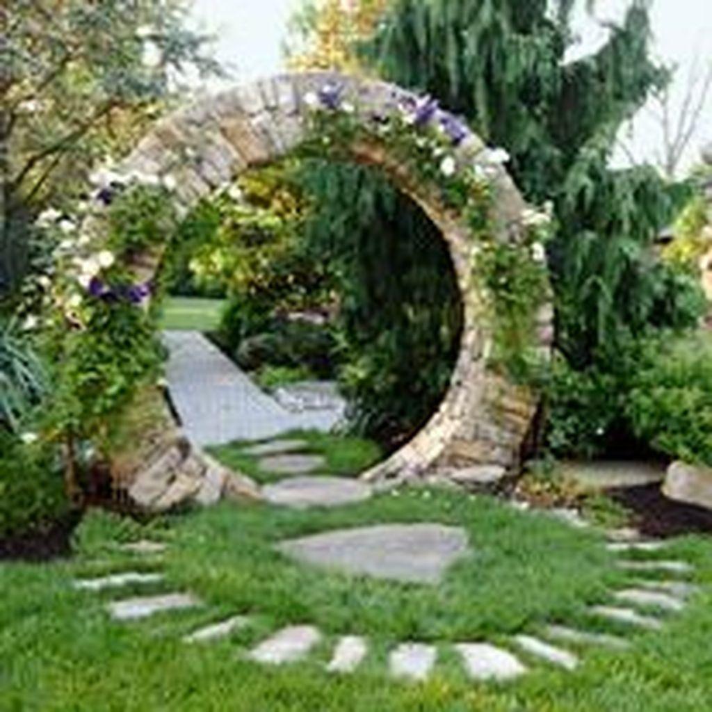 38 Glorious Japanese Garden Ideas: 38 Stunning Stone Moon Gate Ideas