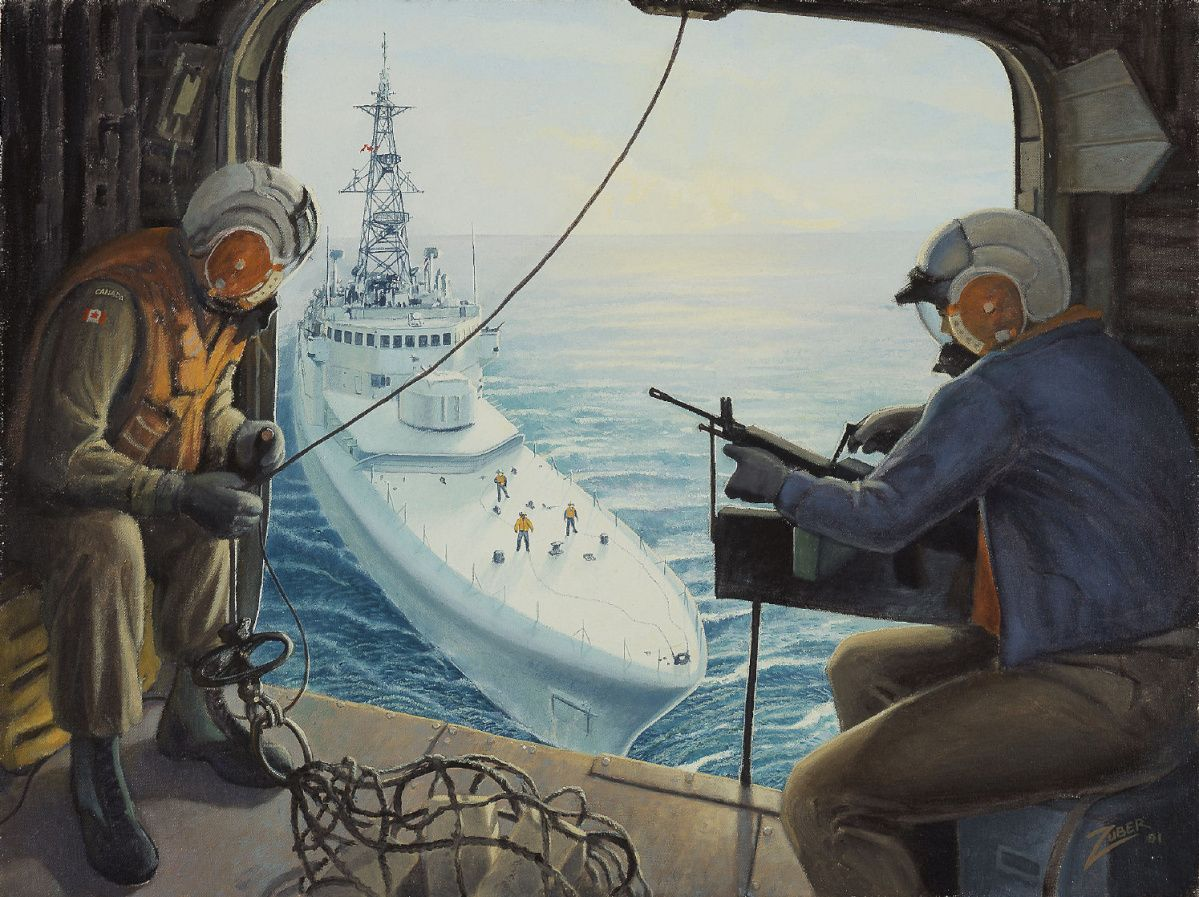 Hmcs Protecteur In The Persian Gulf First Gulf War