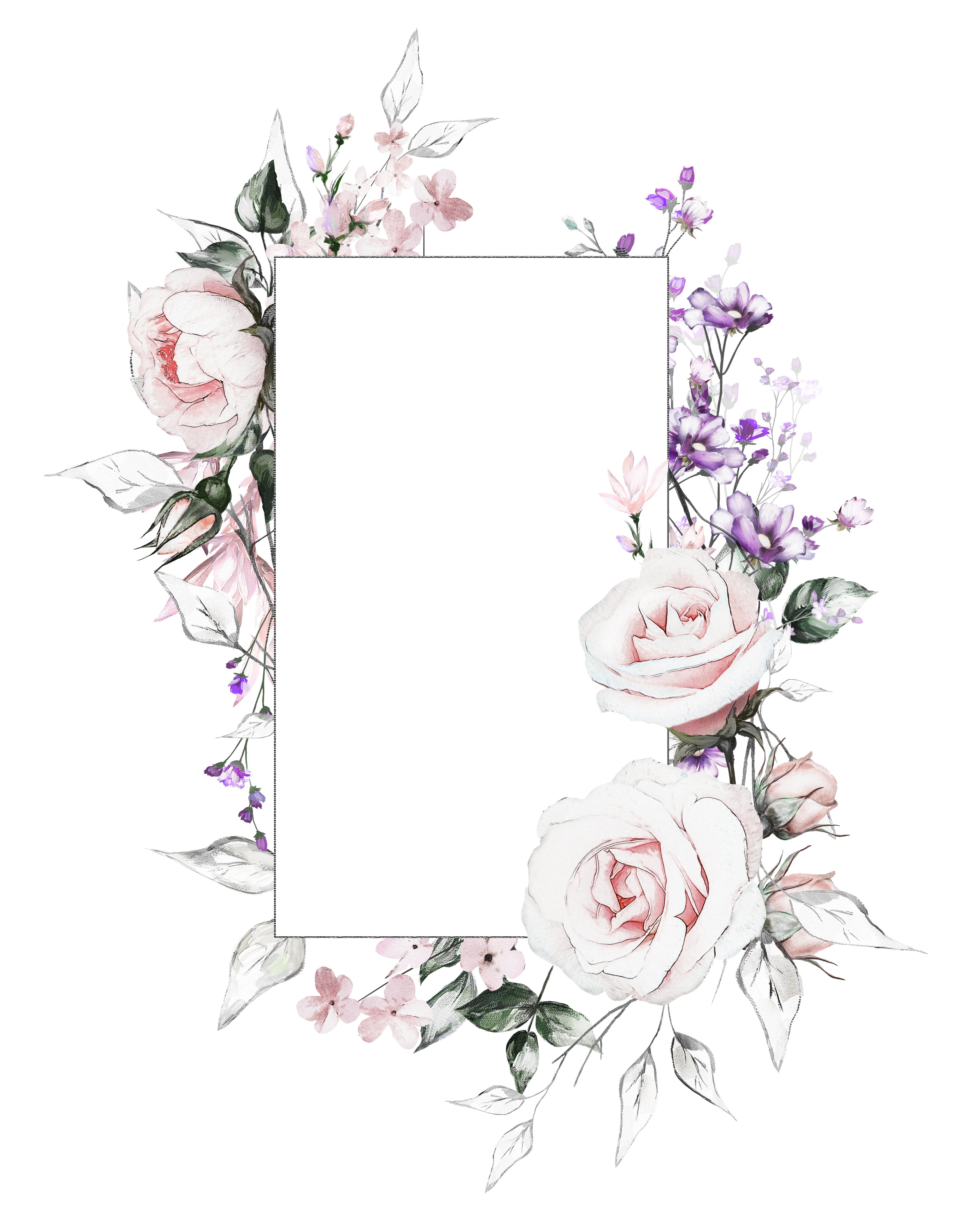 Pin By Nifili Nia On Rsx Flower Frame Floral Border Design Flower Background Wallpaper