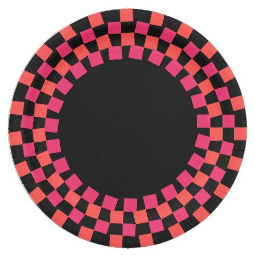 CHIC PAPER PLATE_114 PINK/117 CORAL/BLACK PAPER PLATE  sc 1 st  Pinterest & CHIC PAPER PLATE_114 PINK/117 CORAL/BLACK PAPER PLATE | Chic ...