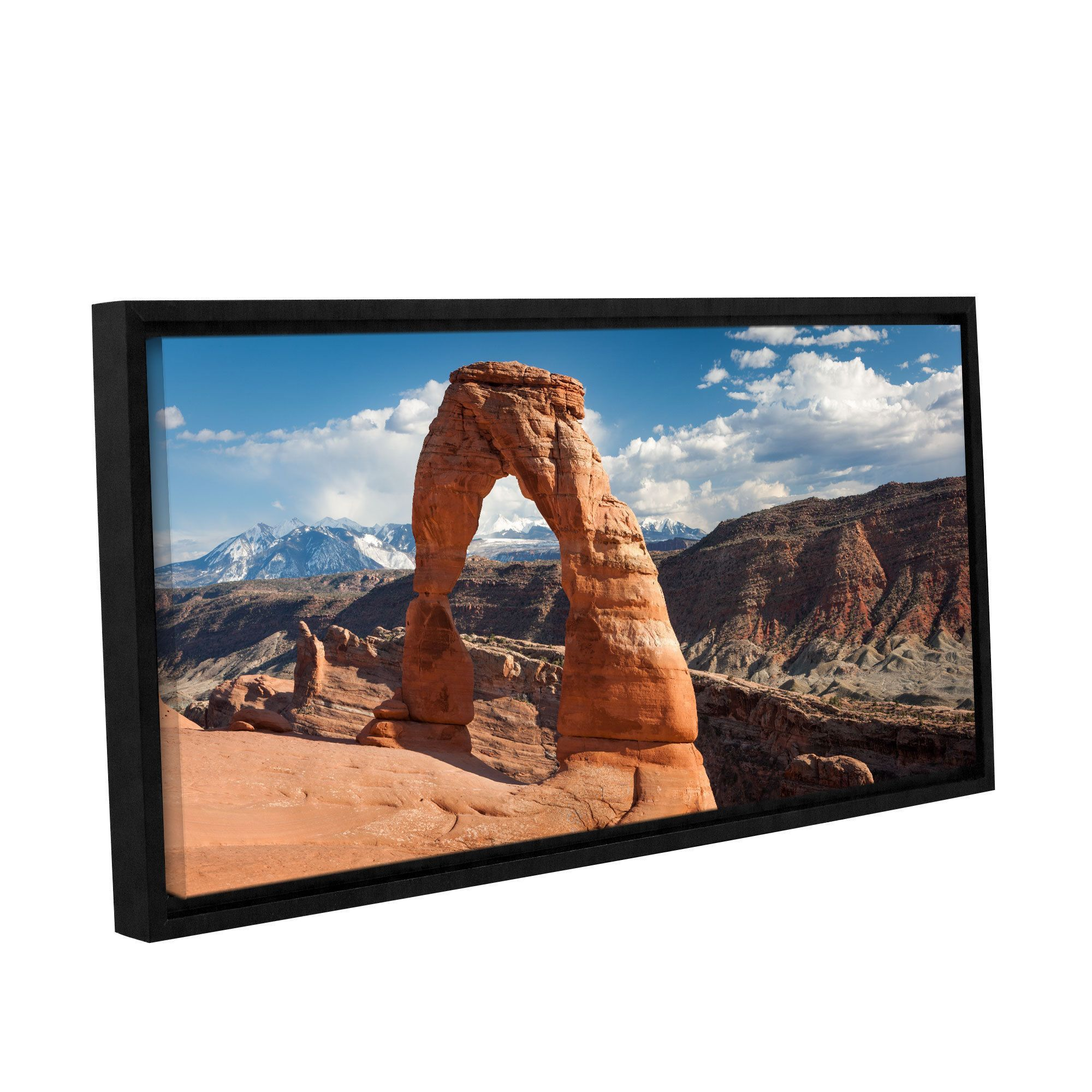 ArtWall Cody York's 'Delicate Arch Daytime Panoramic' Gallery Wrapped Floater-framed Canvas