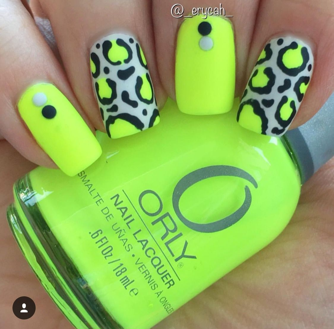 Neon Yellow Leopard Nails Orly - Glowstick | Leopard nails | Pinterest