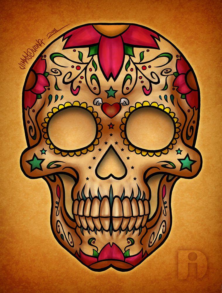 dia de los muertos dia de los muertos candy skull jimmy duong art