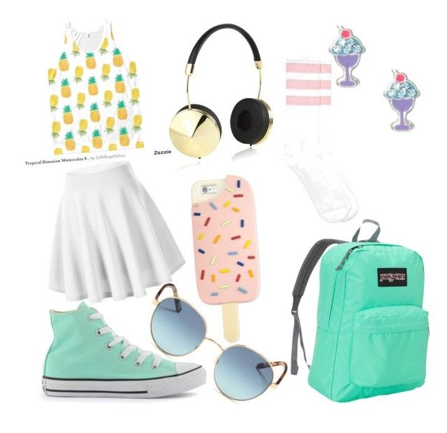 """""""Sun styler"""" by katherina-katherina ❤ liked on Polyvore featuring Converse, JanSport, Frends, Tory Burch and Michael Kors"""