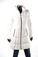 GUESS Womens Puffer Coats Pillow Collar White Down Long Puffer ...
