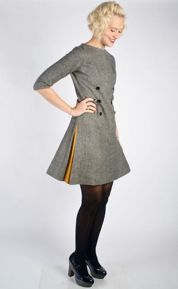 1960s Dress // vintage 60s // Chelsea Tweed by dethrosevintage ...