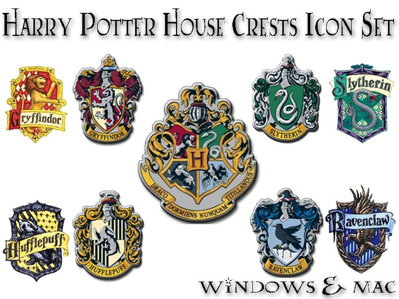 harry potter house crest icons by abracadabra it 39 s magic. Black Bedroom Furniture Sets. Home Design Ideas