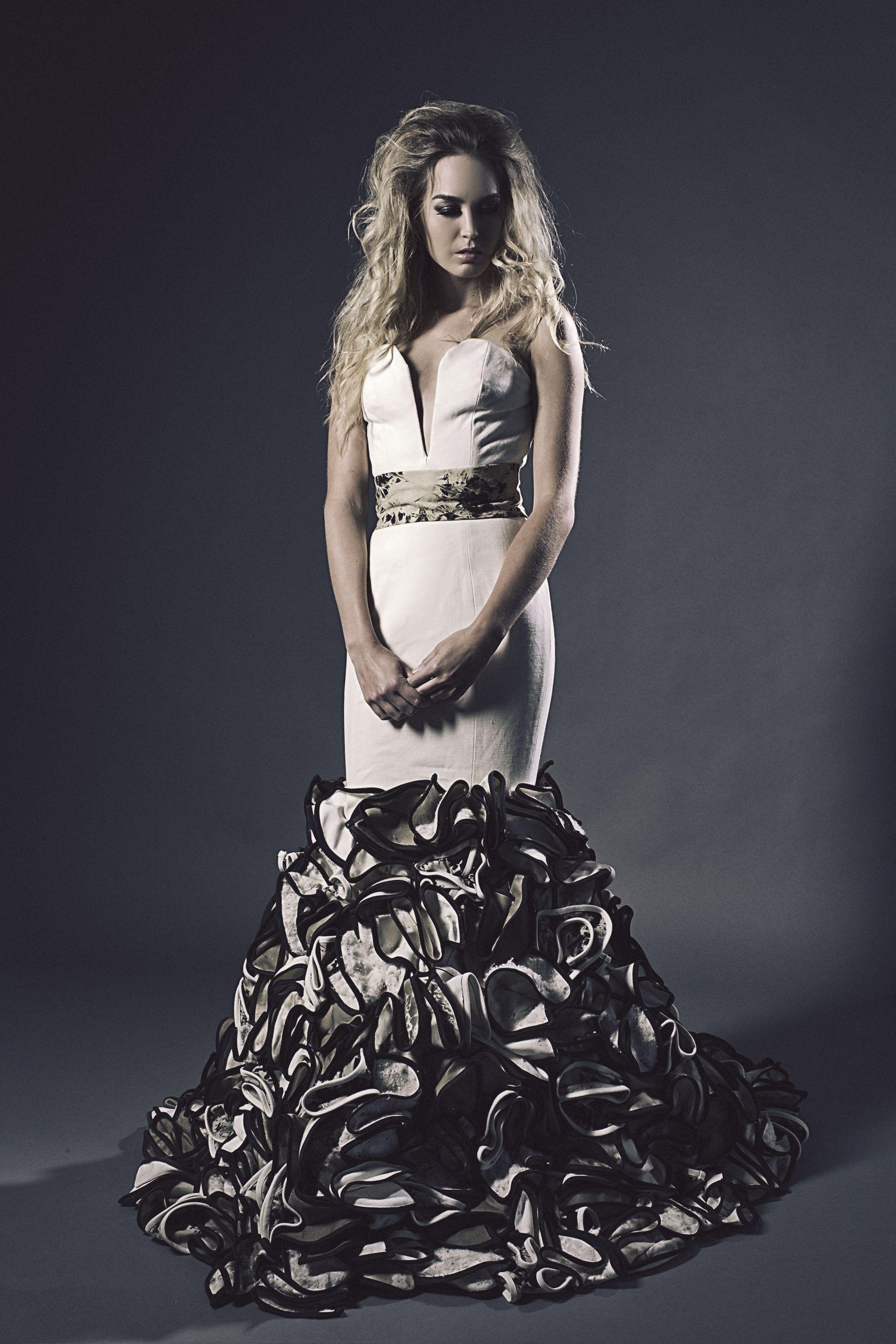 Denim wedding dress designer u creator andrea saieh bridal by