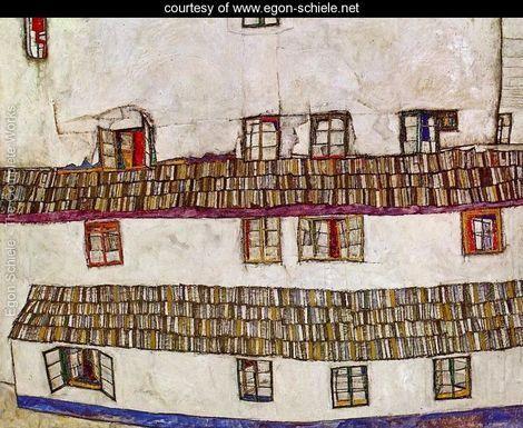 Windows Aka Facade Of A House - Egon Schiele - www.egon-schiele.net