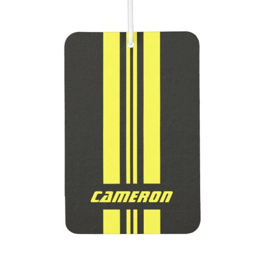 Your Name Fully Custom Colors Racing Stripes 1 Air Freshener #RacingStripes #RacingCarStripes #SportsCarStripes