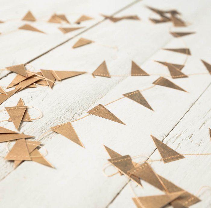 Guirlande en papier doré | Little | Guirlande papier ...