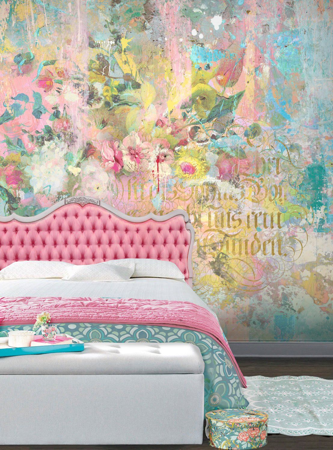 Paint Gilt Wall Mural Teenager S Room By Back To The Wall Back To The Wall Wall Murals Mural Mural Wallpaper