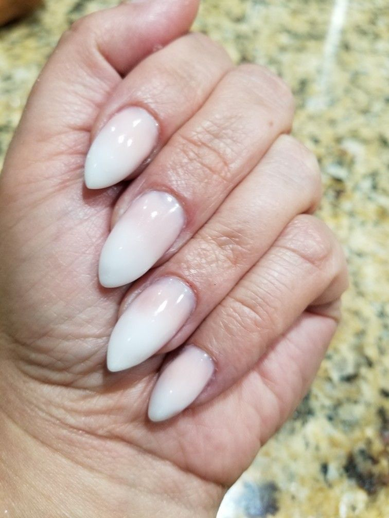 French Fade With Polygel Soft White And Cover Pink Nails French Fade Pink