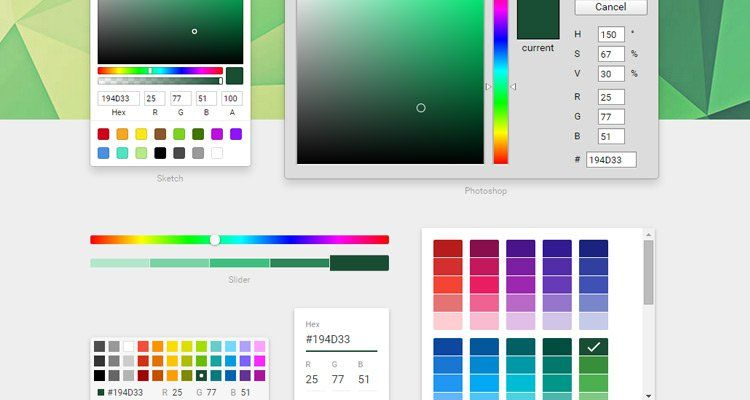 React Color offers Free Color Pickers on GitHub for Sketch