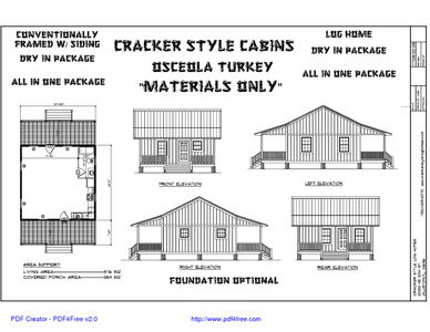 Osceola Turkey Cracker House House Design Log Homes