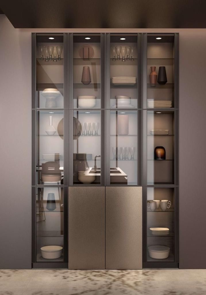 Crockery Unit Design Modern Kitchen, Kitchen Unit Display Cabinet