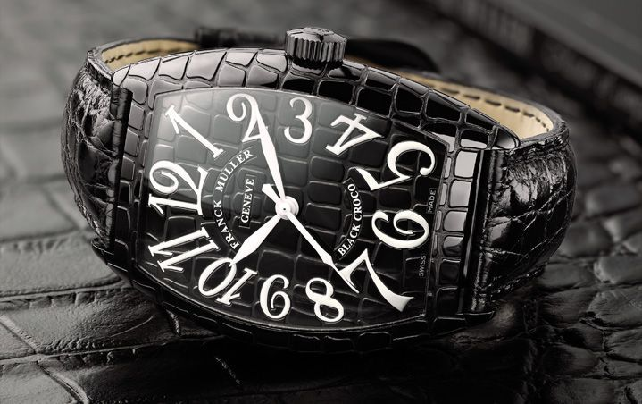 Franck Muller Black Croco replica watch