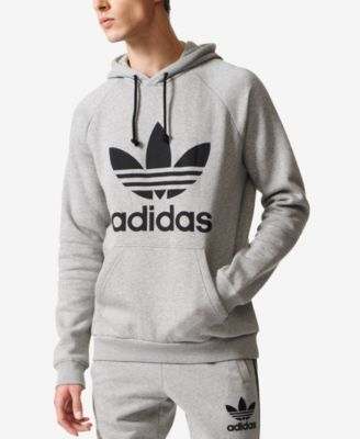 wholesale dealer d1b52 2f278 adidas Originals Men s Fleece Trefoil Hoodie - Black 2XL