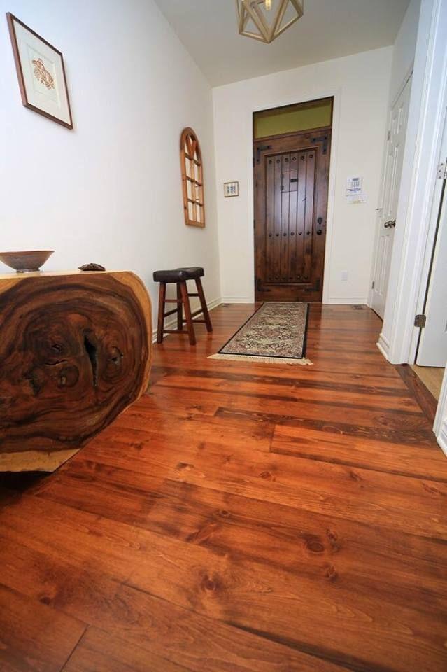 Pine Wide Plank Flooring Entrance Way Home Renovation Building