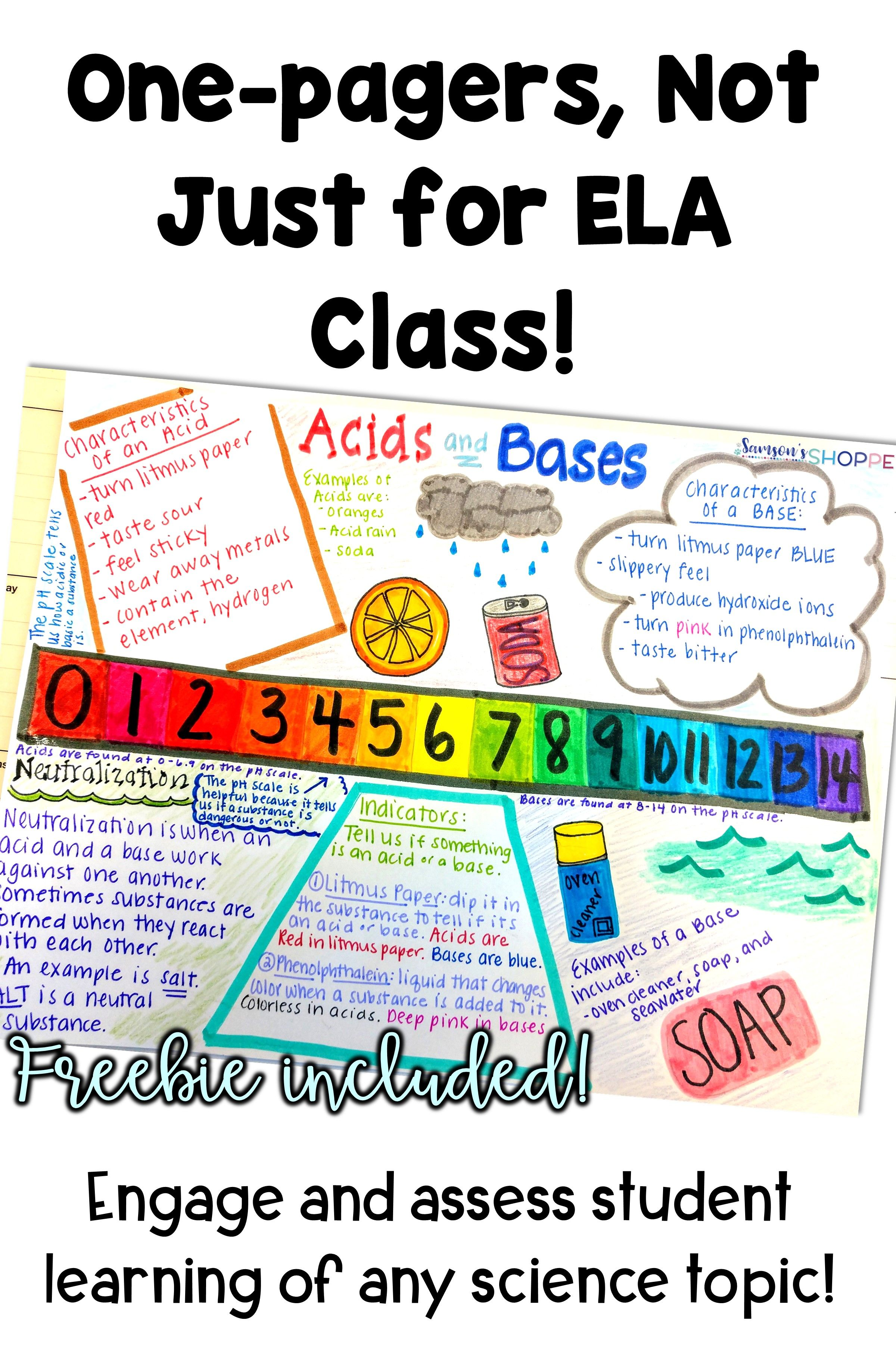 One-pagers, Not Just for ELA Anymore | Middle School Science ...