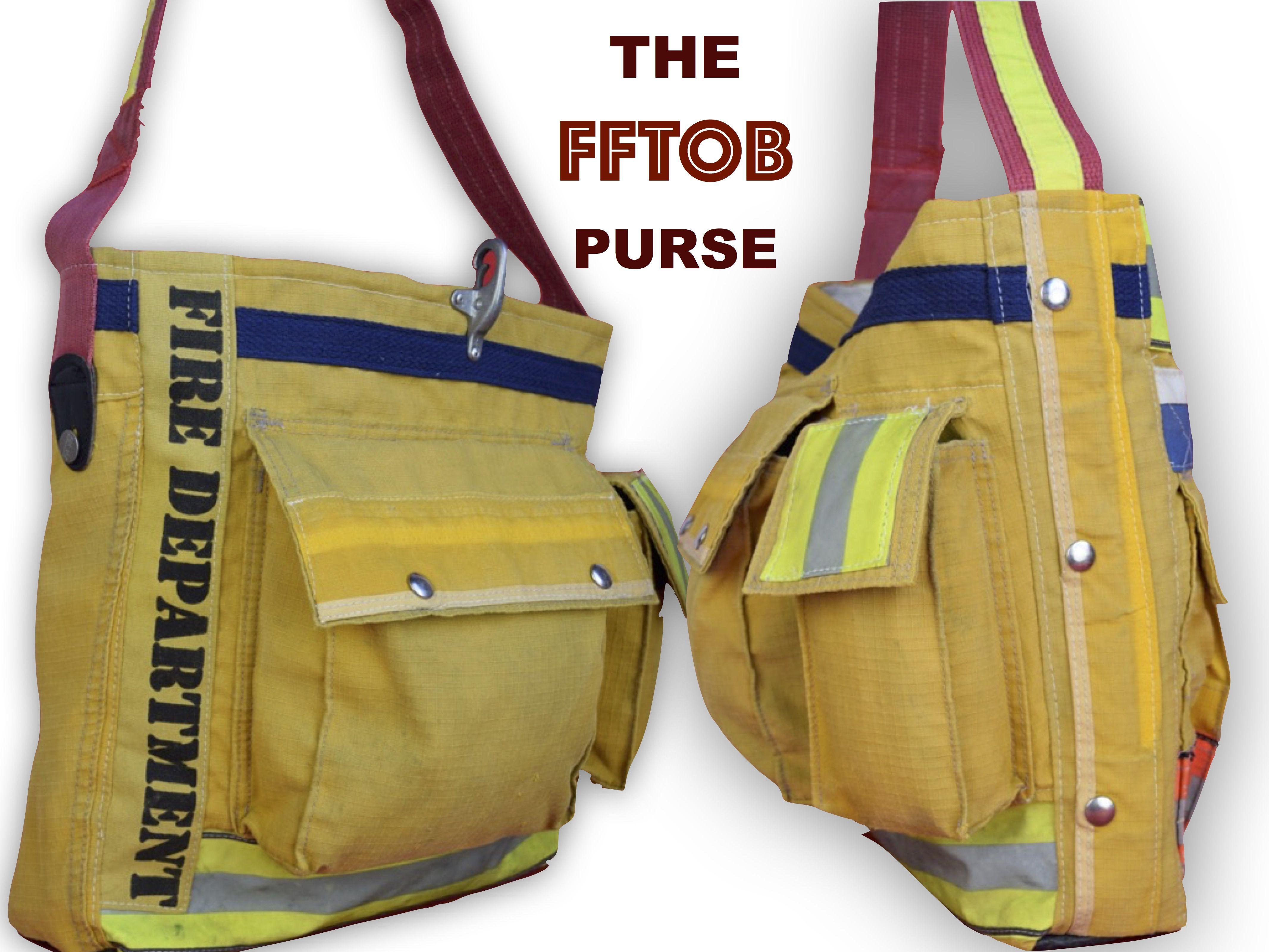 Original Firefighter Turnout Bag By Niki Rasor Since 2008 Uses 99 Retired Donated Bunker Gear