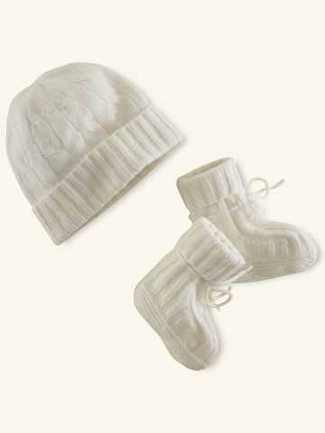 Polo Cashmere hat and boogie set