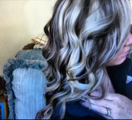 Platinum Highlights And Dark Brown Silver Pinterest Hair Coloring Style