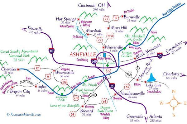 Downtown Asheville NC Map Favorite Places Spaces Pinterest - Ncmap
