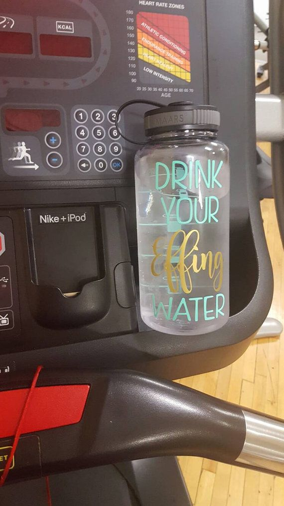 Wide Mouth Water Bottle Water Bottle Workout By Thetinydragonfly