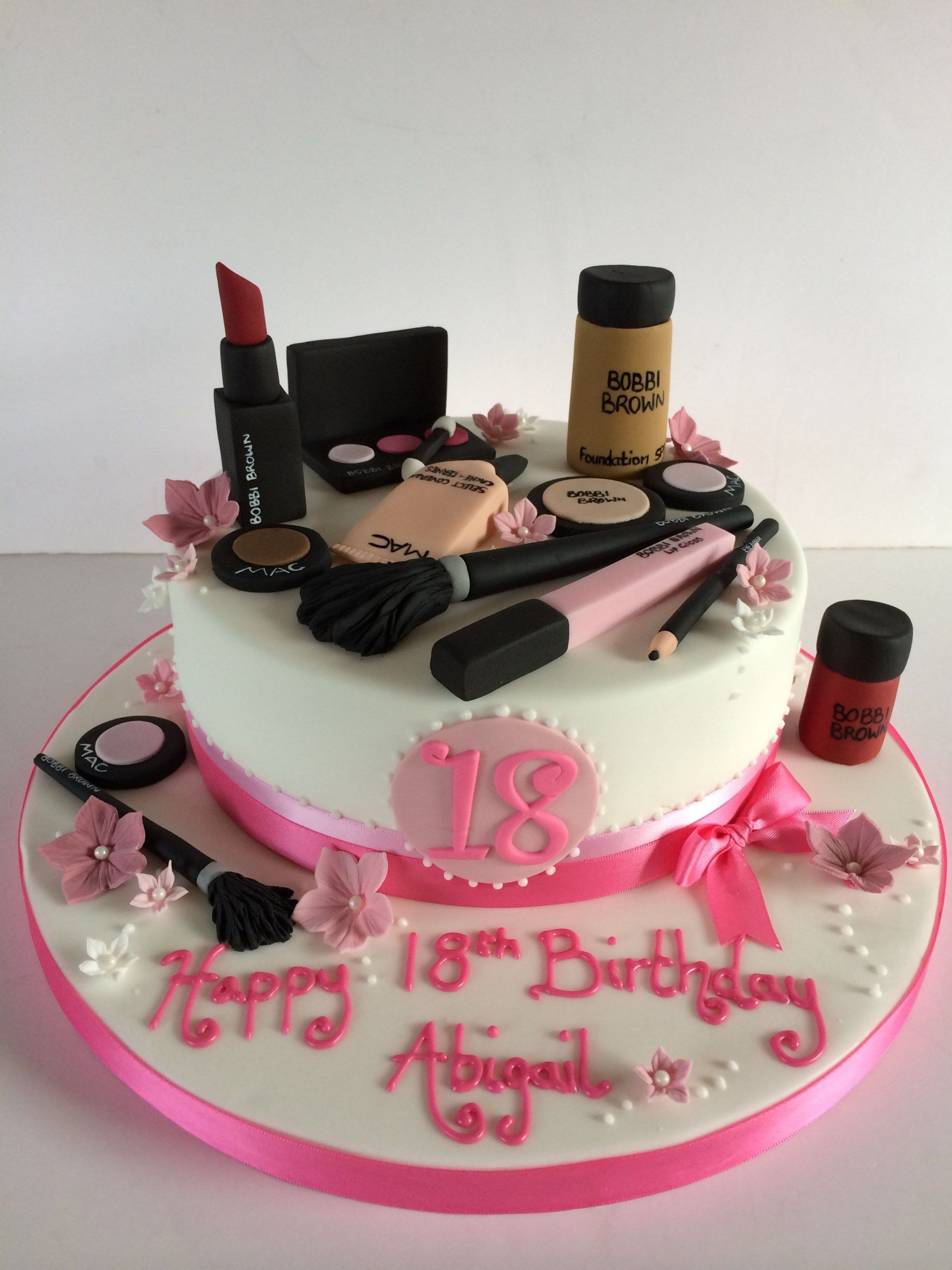 Makeup Birthday Cake 18th Birthday Makeup Cake Birthday 18th