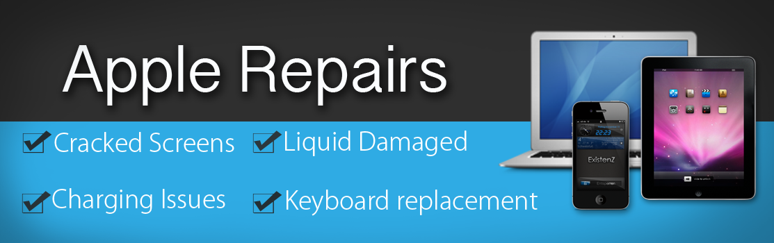 Need your Apple Repairs? Cracked screen or other hardware