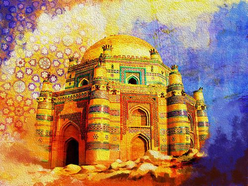 Mai Jwandi Tomb On Makli Hill Poster By Catf With Images India
